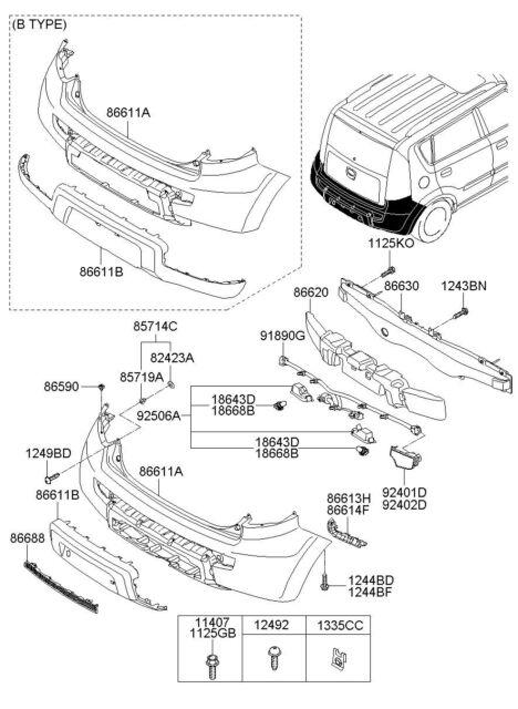 Buy 2009 2010 Kia Soul Bumper Extension Wiring 918902k011 Oem Online