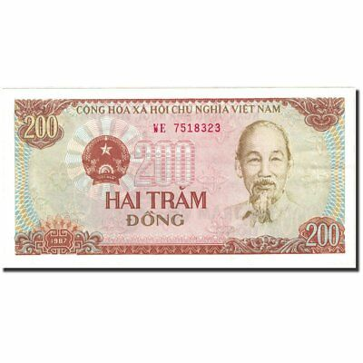 Unc Banknote Vietnam #270143 Km:100b 63 1987-1988 Learned 200 Dng 1987
