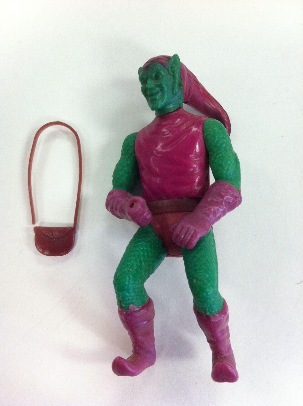 VINTAGE MEGO COMIC ACTION HEROES LOOSE verde GOBLIN 3 3/4 FIGURE WITH SATCHEL