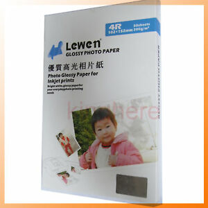 New-Glossy-Photo-Paper-4x6-034-A6-For-lnkjet-printer-50sheets-Hot