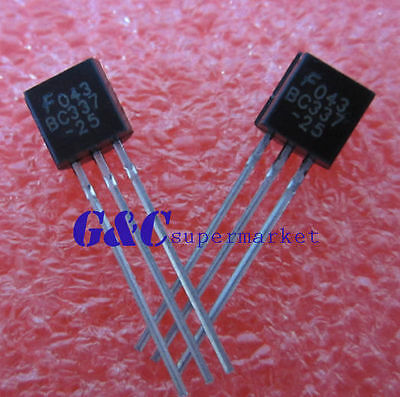 30PCS  BC337 BC337-25 Transistor NPN 45V 0.5A NEW GOOD QUALITY