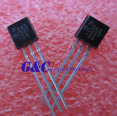 30PCS  BC337 BC337-25 Transistor NPN 45V 0.5A NEW GOOD QUALITY