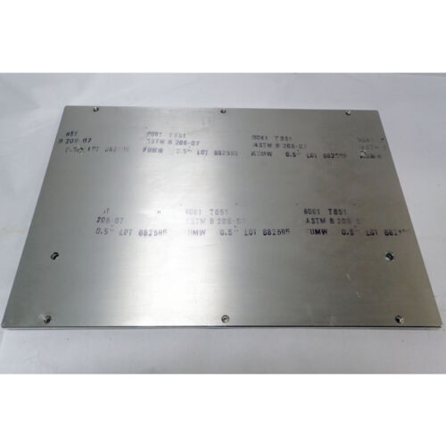 """30 x 20.25 x 0.5/"""" SOME MILLED HOLES CAST ALUMINUM PLATE 6061 T651"""
