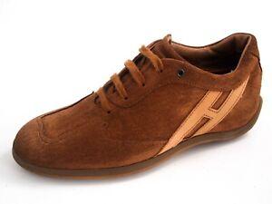 Details about Hogan Sneakers Brown Suede Womens Shoe Size EU 35.5 US 5.5 $360