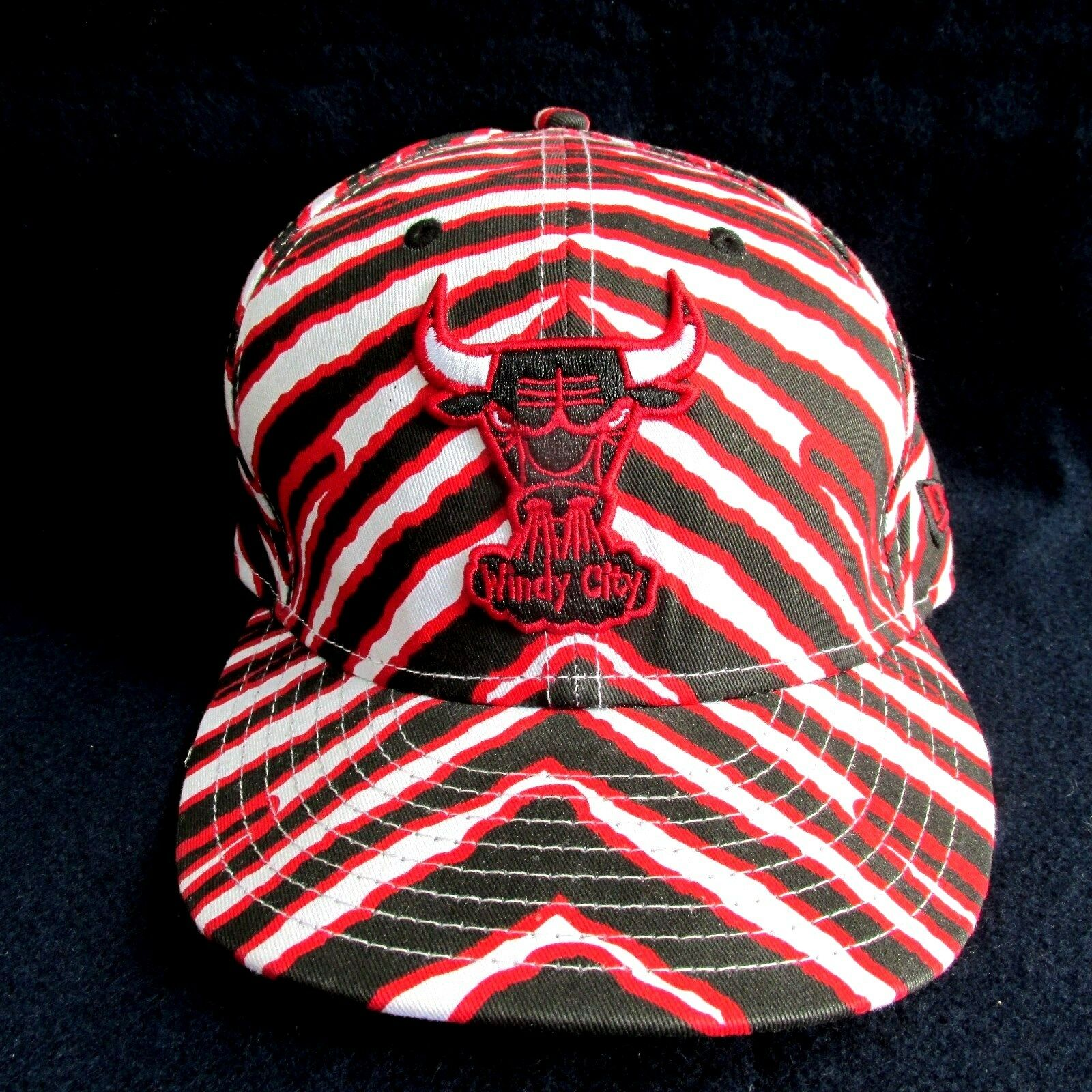 Chicago Bulls Zubaz New Era 59Fifty 7 Hat Cap Fitted Size 7 59Fifty 1/4 Windy City NEW 492909