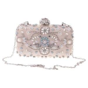 9cb6e7892b Image is loading Women-Evening-Clutch-Bag-Crystal-Rhinestone-Bridal-Wedding-