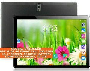 "BDF M107 4 G phone call tablet 2 Go 32 Go Octa-Core 10.1"" Dual SIM WIFI Android 9.0"