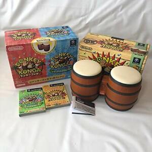 Donkey-Konga-1-2-Pack-Bundle-Set-Game-Cube-Nintendo-GC-Used-Japan-NTSC-J-F-S