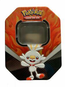 EMPTY-Pokemon-Card-Storage-Tin-RED-FIRE-Spring-2020-Galar-Partners