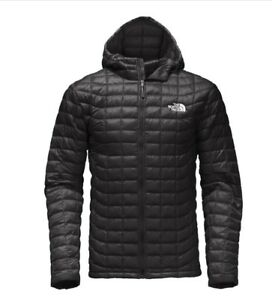 bde3776a7 Details about THE NORTH FACE MEN THERMOBALL INSULATED HOODIE BLACK/Silver  Logo Medium BNWT