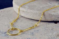 Silberkette mit Anhänger Halskette Damen Schmuck 925 Silber Kette Vergoldet