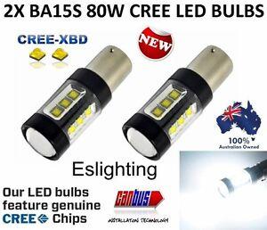 2 X BA15S 1156 80W CREE LED INDICATOR TURN SIGNAL BRAKE STOP TAIL BULB LIGHT