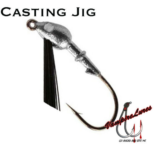 Casting Bass Jig Weedless 1//8 3//16 1//4oz 5 10 25 Pack Mustad Hook