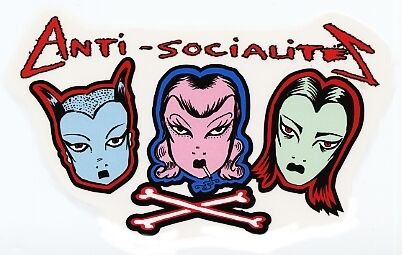 ANTI SOCIALITES GOTH GIRLS Awesome VINYL STICKER//DECAL