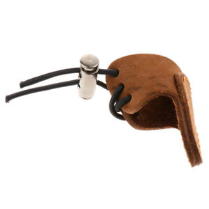 Archery Finger Glove Protect Fingers Guard Tab Double Layer Leather brown
