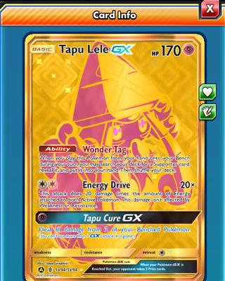 DIGITAL Tapu Lele GX Gold Secret Rare pokemon tcg online