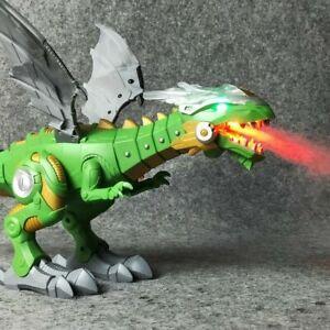 Walking-Dragon-Toy-Fire-Breathing-Water-Spray-Dinosaur-Christmas-WeeziShop-X4W8