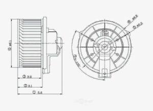 HVAC Blower Motor Front Global 2311263