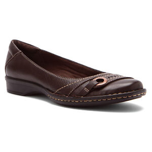 Brown Leather Walking Shoes Womens
