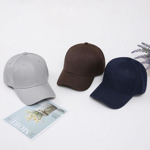 New Sport Cotton Baseball Cap Fitted Ballcap Plain Blank Hat Trucker Hats
