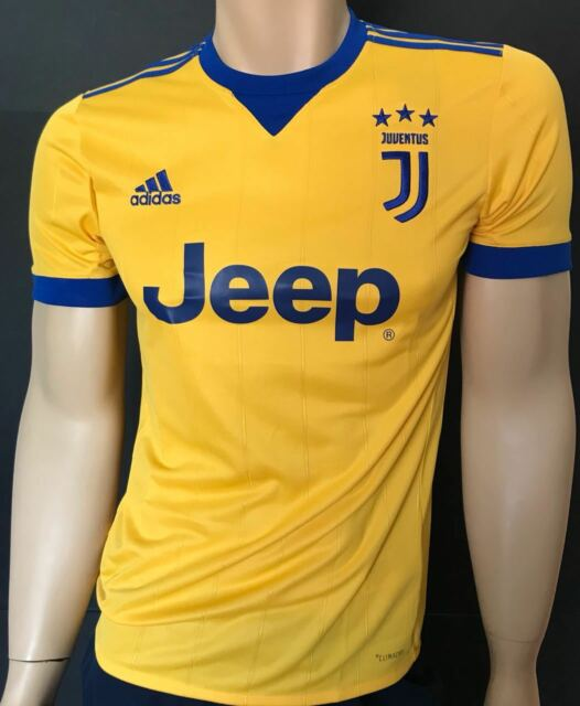 hot sale online 29af2 998f2 jersey shirt Adidas Juventus 2017 2018 away yellow all the sizes free  postage