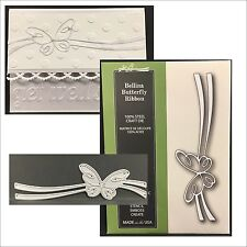 BELLINA BUTTERFLY RIBBON border die - Poppystamps dies 1531 Animals,insects