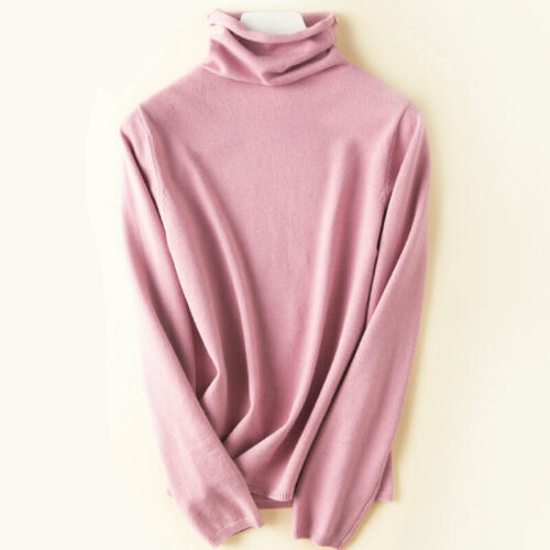 Women Winter Turtleneck Sweater Cashmere Sweater Knitted Pullover Sweaters Warm