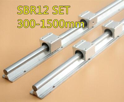 4 Set SBR12-1500mm FULLY SUPPORTED LINEAR RAIL SHAFT ROD with 8 SBR12UU