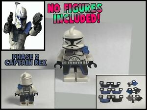 Lego Star Wars Minifigure Lot Of 2 Phase 2 Captain Rex Clone Kama