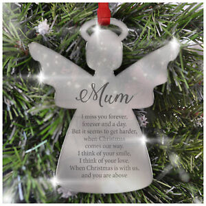 PERSONALISED IN LOVING MEMORY CHRISTMAS REMEMBRANCE TREE BAUBLE Unique Gift Idea