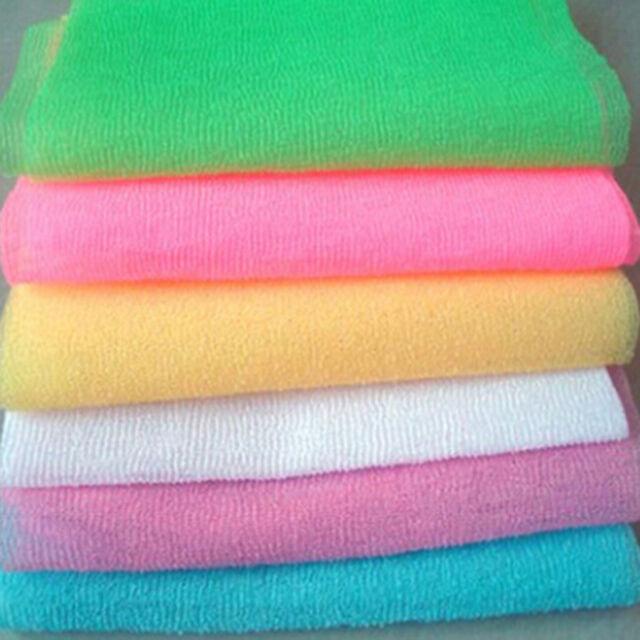 Beauty Skin Cloth Exfoliating Nylon Shower Bath Body Towel Wash Scrub Gadget HS3