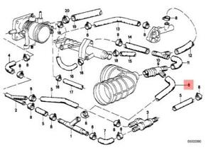 genuine bmw e28 e30 coupe sedan vacuum control hose oem 11611287675 rh ebay com BMW 325I Vacuum Diagram BMW E46 Vacuum Hose Diagram