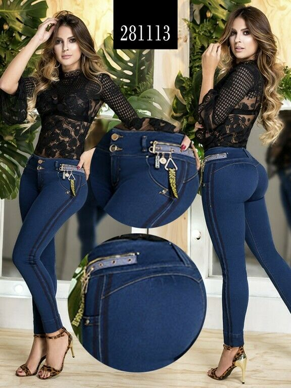 Colombian bluee Jeans Skinny Butt Lifter Stretch Levanta Cola Slimming Molding
