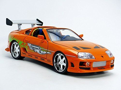 1 18 Brian's Toyota Supra - Fast & Furious Orange Car by Jada