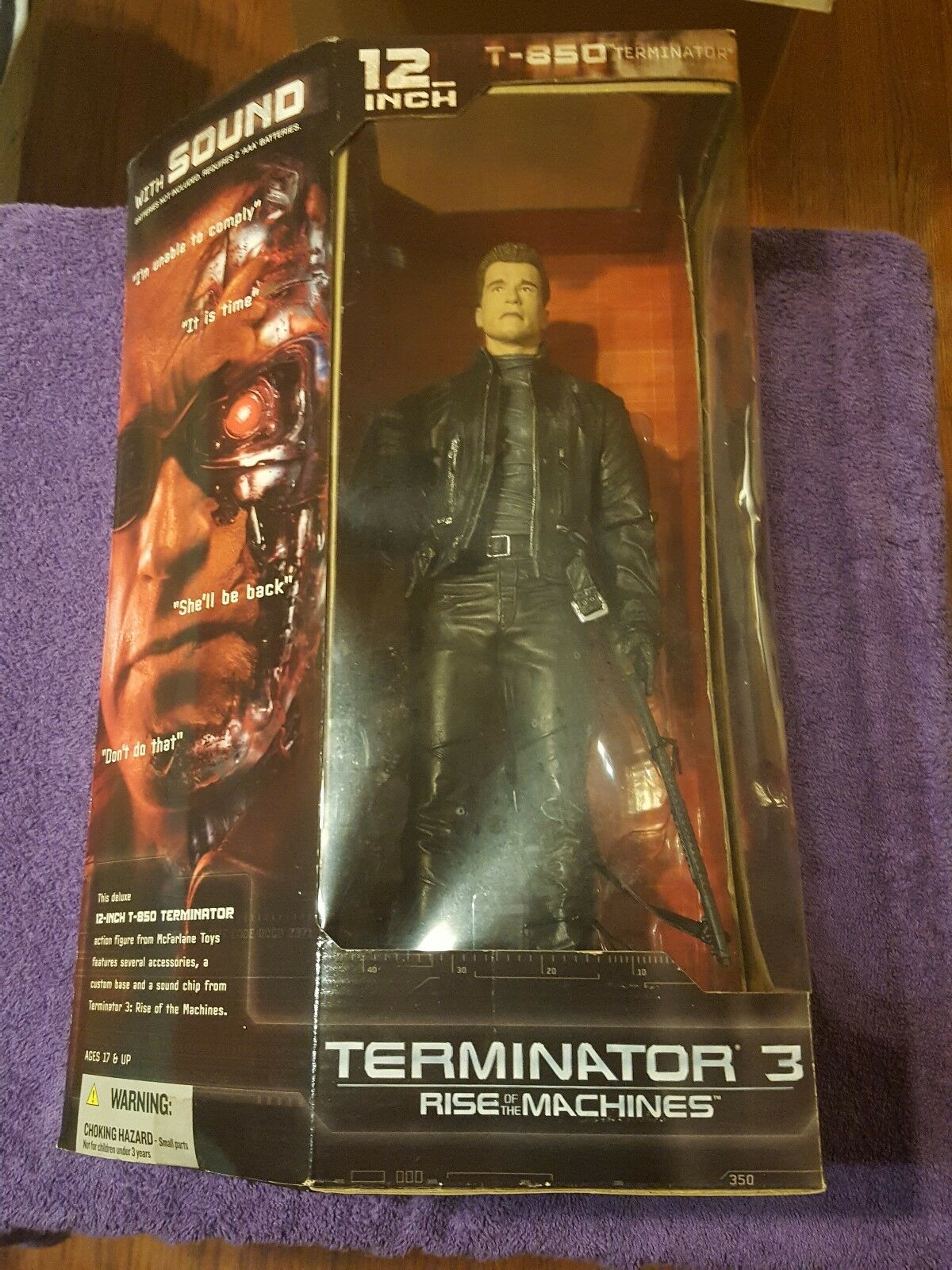 2003 McFarlane Toys 12  T-850 Terminator With Sound
