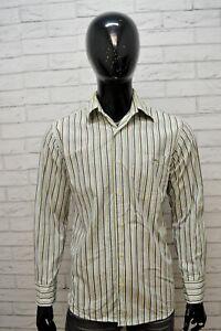 Camicia-Uomo-LACOSTE-Taglia-39-L-Camicetta-Manica-Lunga-Shirt-Righe-Hemd-Maglia