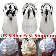 3Pc Sphere Ball Tip Nozzles Icing Piping Russian Nozzle DIY for Cake Baking Tool