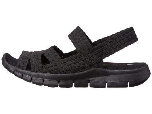 Women/'s Shoes Bernie Mev Cindy Casual Woven Slingback Sandals Black *New*