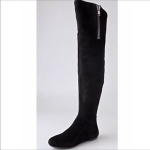 b6df3c2d2f94 Sam Edelman James Over-The-Knee Suede Boots Black Size 9 Brand New ...