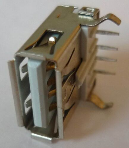 USB Built-in Socket Beech a Angled Print Connectors Mounting Clutch Solder
