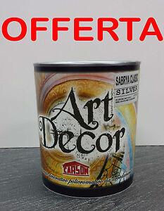 Pittura Decorativa Metallica 1 Litro Sabbiato Perlato Vento Di