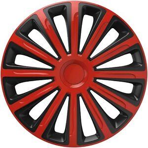 radkappen 13 zoll trend red black rot schwarz radblenden. Black Bedroom Furniture Sets. Home Design Ideas