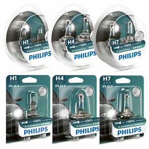 Philips-XTREME-VISIoN-130-mas-de-luz-Faro-Bulbos-H1-H4-H7-SINGLE-par