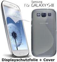 Schutzhülle für Samsung Galaxy S3  i9300 Bumper Cover Hülle + Displayschutzfolie