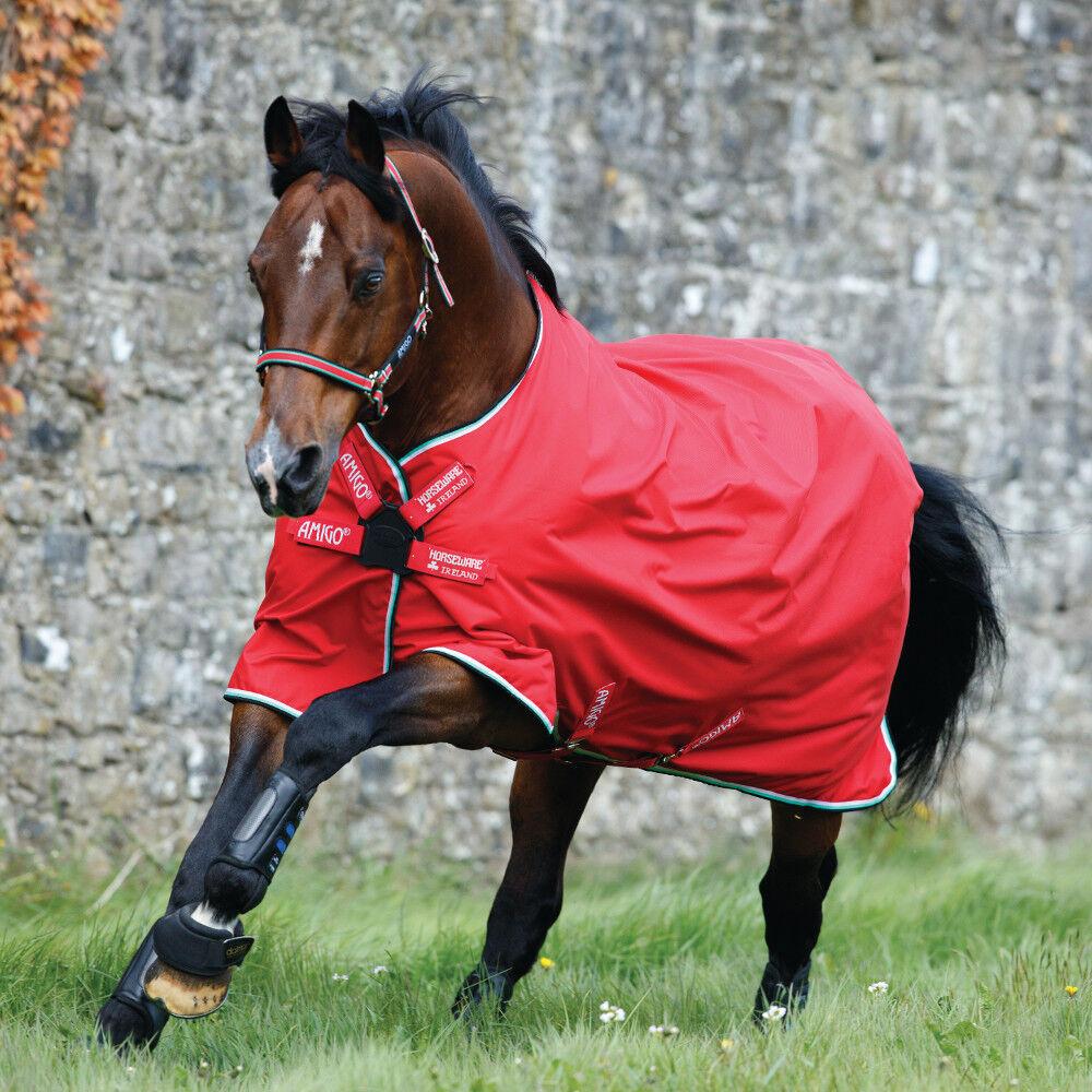 Horseware amigo Hero Acy turnout 0g Lite net lined Disc-rojo blancooo verde negro