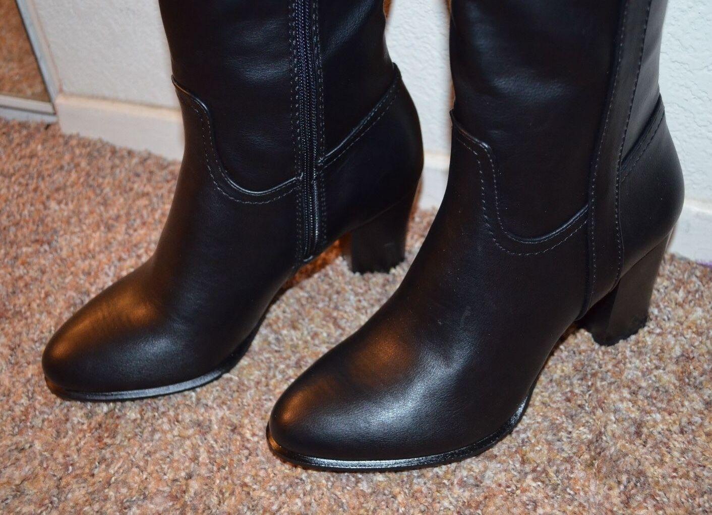 037be2aeab7 ... NEW ALFANI ALFANI ALFANI Damens BLACK Knee High Stiefel   Größe 7 m   3