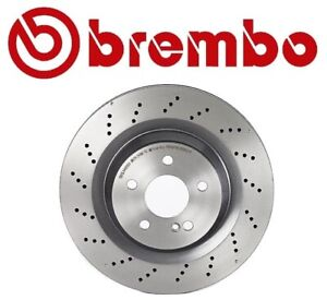 Brembo Rear Drilled UV-Coated Disc Brake Rotor For Mercedes SL55 SL63 SL65 AMG
