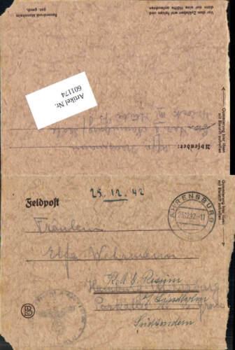 601174,WK 2 Feldpost Ahrensburg ins RAD Lager Risum weiblicher Arbeitsdienst Nau