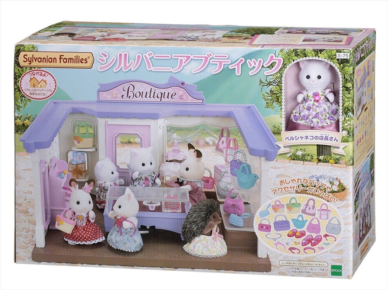 Sylvanian Families Mi-75 Silvanian Boutique Set with a Persian Cat Clerk