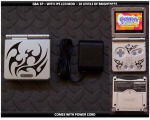 Nintendo Game Boy Advance GBA SP IPS MOD System 10 Level Brightness - Tribal LE